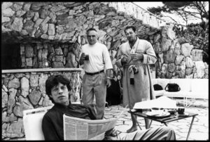 Mick Jagger, Dennis Hopper and Julian Schnabel, 1991© Jean Pigozzi
