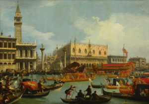 Canaletto - Bucentaur's return to the pier by the Palazzo Ducale, Venice
