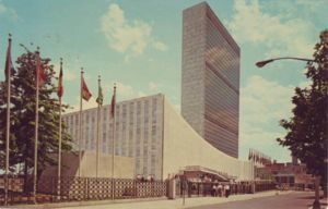 New York, United Nations World Capital, Manhattan Postcard Pub. Co., NY