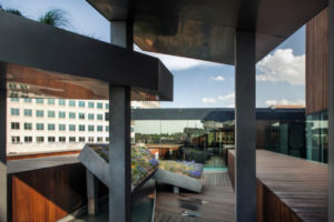 Museum of Contemporary Arts Denver roof top garden. Photo: Nic Lehoux