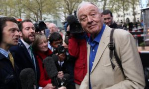 Ken Livingstone on 30th April 2016. Photograph: Neil Hall/Reuters