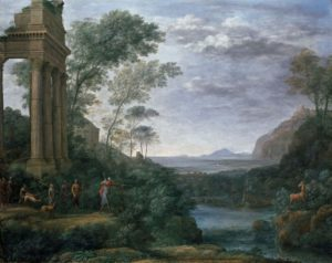 Claude Lorrain (c.1604/5 - 1682). Landscape with Ascanius shooting the Stag of Sylvia © Ashmolean Museum, University of Oxford