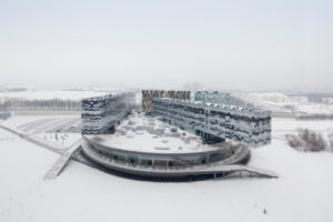 Moscow School Of Management in the snow. Photo: Iwan Baan