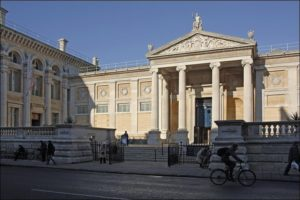 The exterior of the Ashmolean Museum in Oxford.