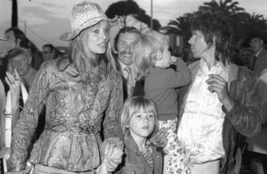 Anita Pallenberg and family