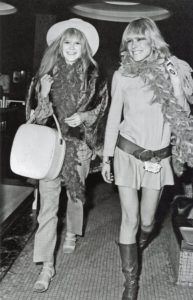 Marianne Faithfull and Anita Pallenberg