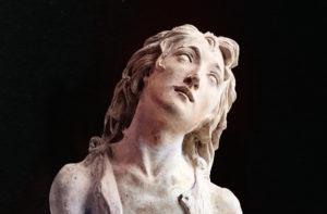 Attributed to Matteo Civitali Saint John the Baptist, c. 1480 Painted Terracotta Bode Museum, Berlin