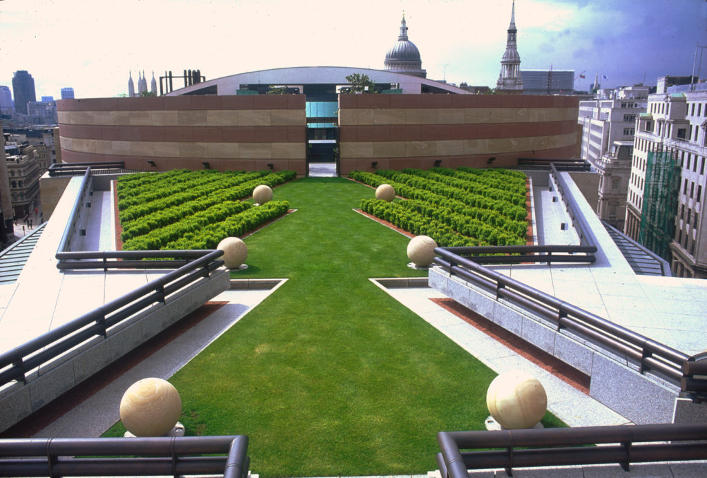 Number 1 Poultry roof garden