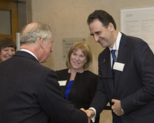 with Gabriele Finaldi and HRH the Prince of Wales. c. The National Gallery