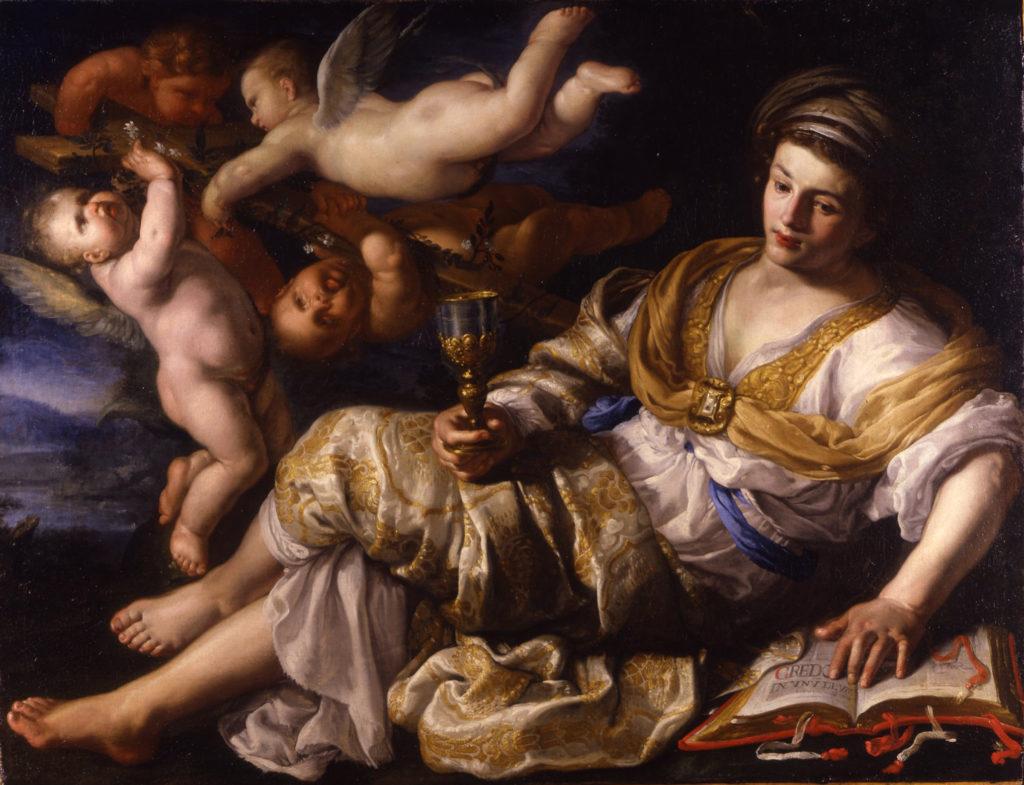 Bernardino Mei – Allegory of Faith, oil on canvas, 120 x 155 cm